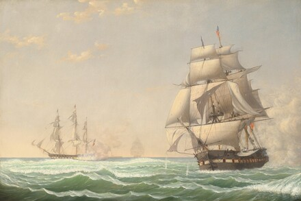 The United States Frigate President Engaging the British Squadron, 1815