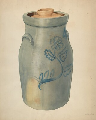 Earthenware Butter Churn