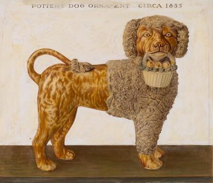 Pottery Dog Ornament