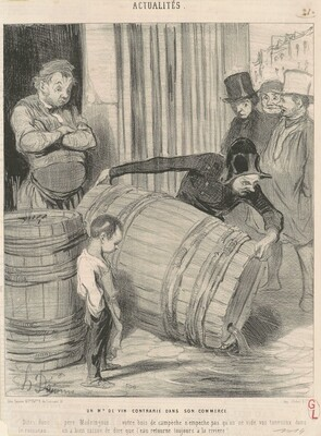 Un marchand de vin contrarié dans son commerce