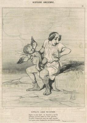 Hippolyte lardé par Cupidon