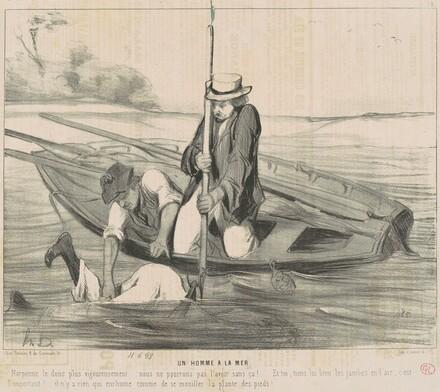 Un homme a la mer