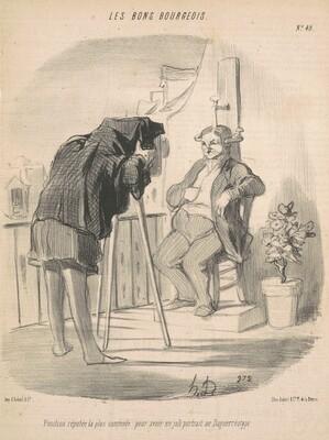 Position réputée la plus commode pour un portrait au daguerréotype