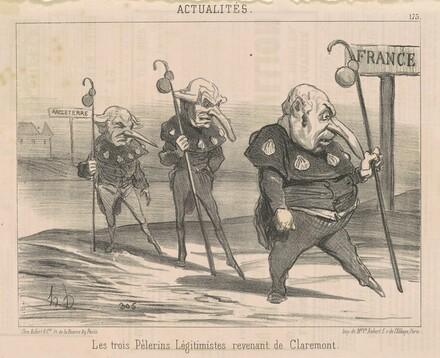 Le trois légitimistes ... revenant de Claremont