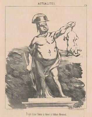Projet d'une statue ... a Odilon-Nemrod