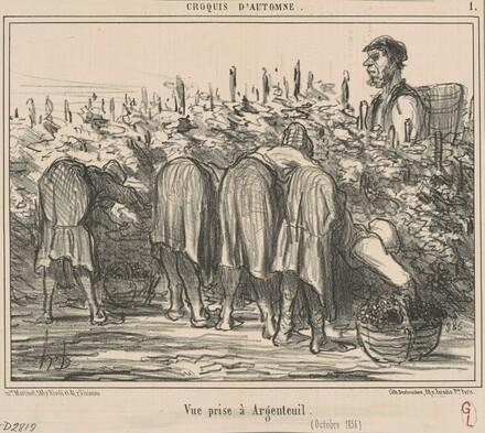 Vue prise a Argenteuil (Octobre 1856)