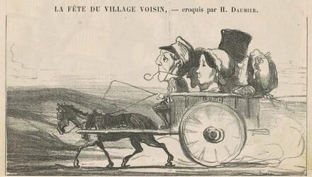 A la campagne, pas de grèves de cochers ... (recto); Villageois économies se contentant ... (verso)