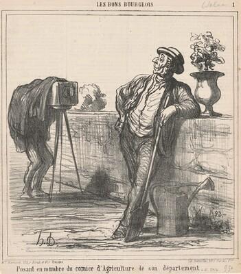 Posant en membre du comice d'agriculture ...