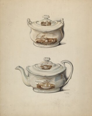 Sugar Bowl and Teapot