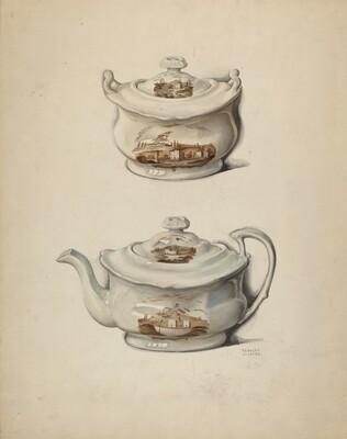 Sugar Bowl and Teapot