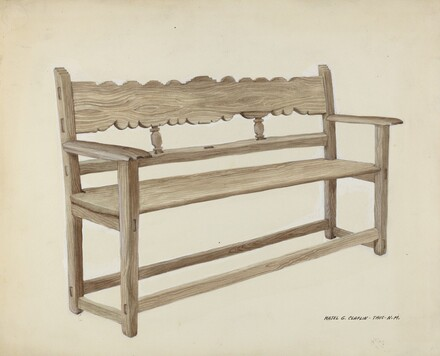 Church Bench - Wooden
