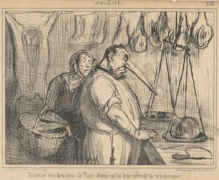 Tristesse des bouchers de Paris ...