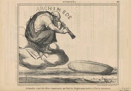 Archimède riant des efforts ...