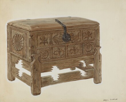 Casa en Mesita or Chest on Stand