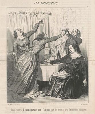 Toast porté a  l'émancipation des femmes ...