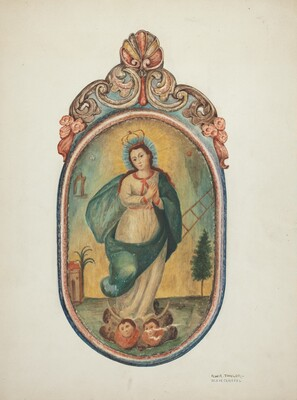 Santo de Retablo (Virgin Mary)