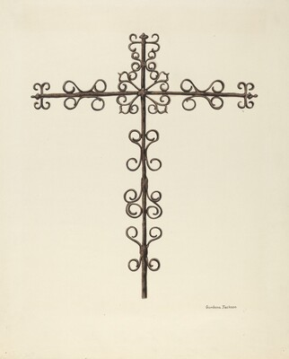 Wrought Iron Cross (Restored)