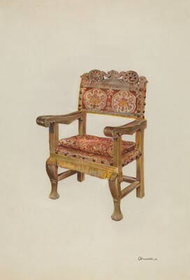 Hand-carved Armchair