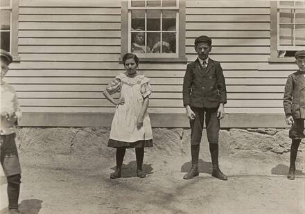Edward St. Germain and his sister Delia, mill workers, Phoenix, Rhode Island, April 1909