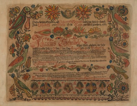 Pa. German Birth Certificate