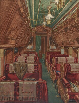 Interior of Pullman Coach, 1888