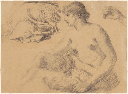 Nude Study, with Drapery and Hand