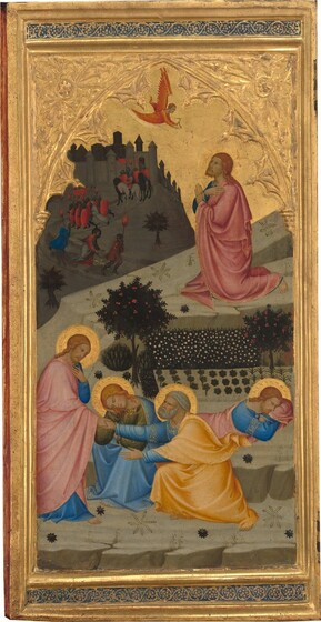 Scenes from the Passion of Christ: The  Agony in the Garden [left panel]