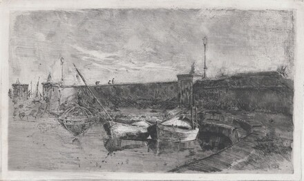 The Harbor at Viareggio [La Darsena]