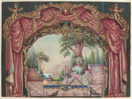 Backdrop for Vaudeville Stage