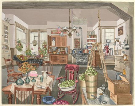 Semi-Rural Kitchen and Dining Room, 1910