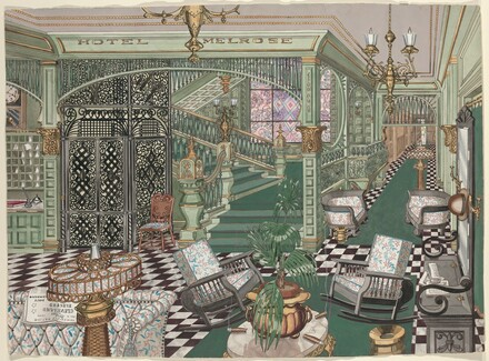 Melrose Hotel Lobby, 1880