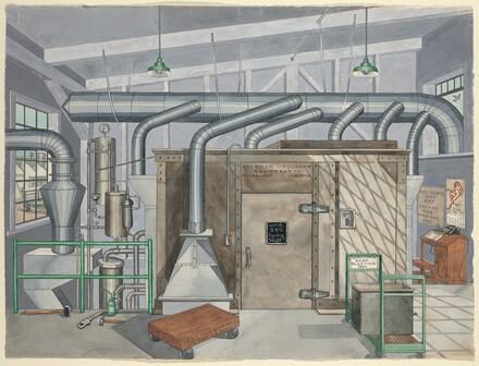 Exterior Sand Blasting Chamber, 1935
