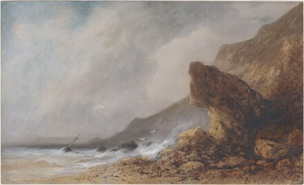 A Rocky Seacoast in a Storm