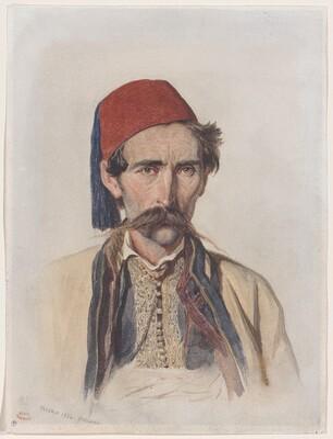 Moustachioed Slav in Belgrade
