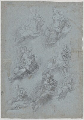 Studies for the Virgin and Child (recto)