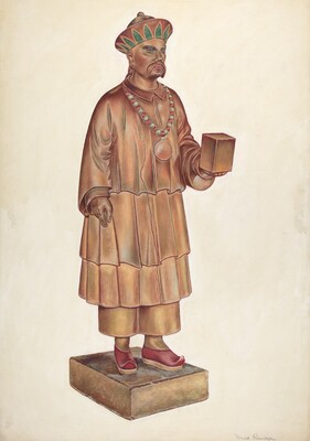 Male Tea Shop Figure