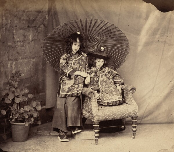 Lorina and Alice Liddell in Chinese Dress