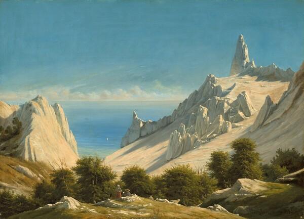 View of Sommerspiret, the Cliffs of Møn