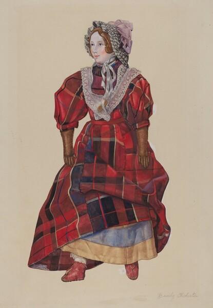 Doll in Plaid Dress