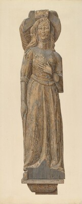 Circus wagon figure: medieval lady