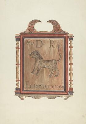 David Reed's Tavern Sign (verso)