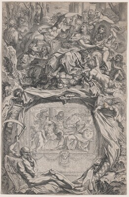 France Crowned with Victory by Louis XIV