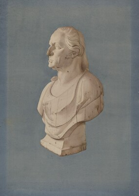 Pine Bust of Washington