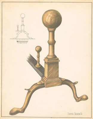 Andiron (one of pair)