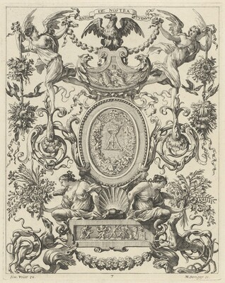 Ornamental Panel Surmounted by an Eagle and the Motto NATOS ET NOSTRA TUEMUR