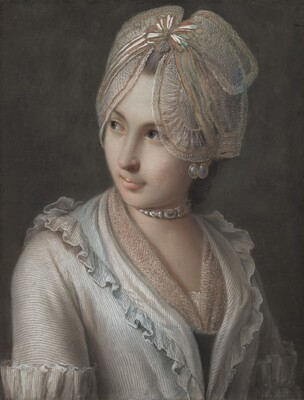 An Elegant Young Lady with a Lace Cap