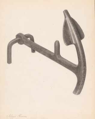 Andiron (one of pair)