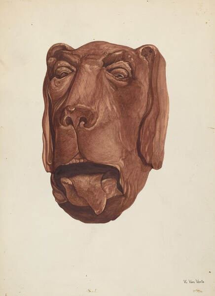 Carved Dog's Head