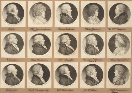 Saint-Mémin Collection of Portraits, Group 9