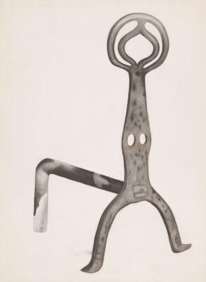 Wrought Iron Andiron